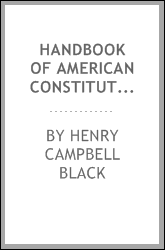 Handbook of American constitutional law