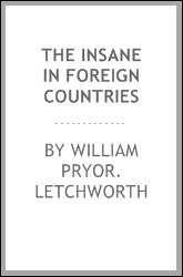 The insane in foreign countries