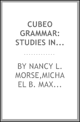 Cubeo grammar: Studies in the languages of Colombia