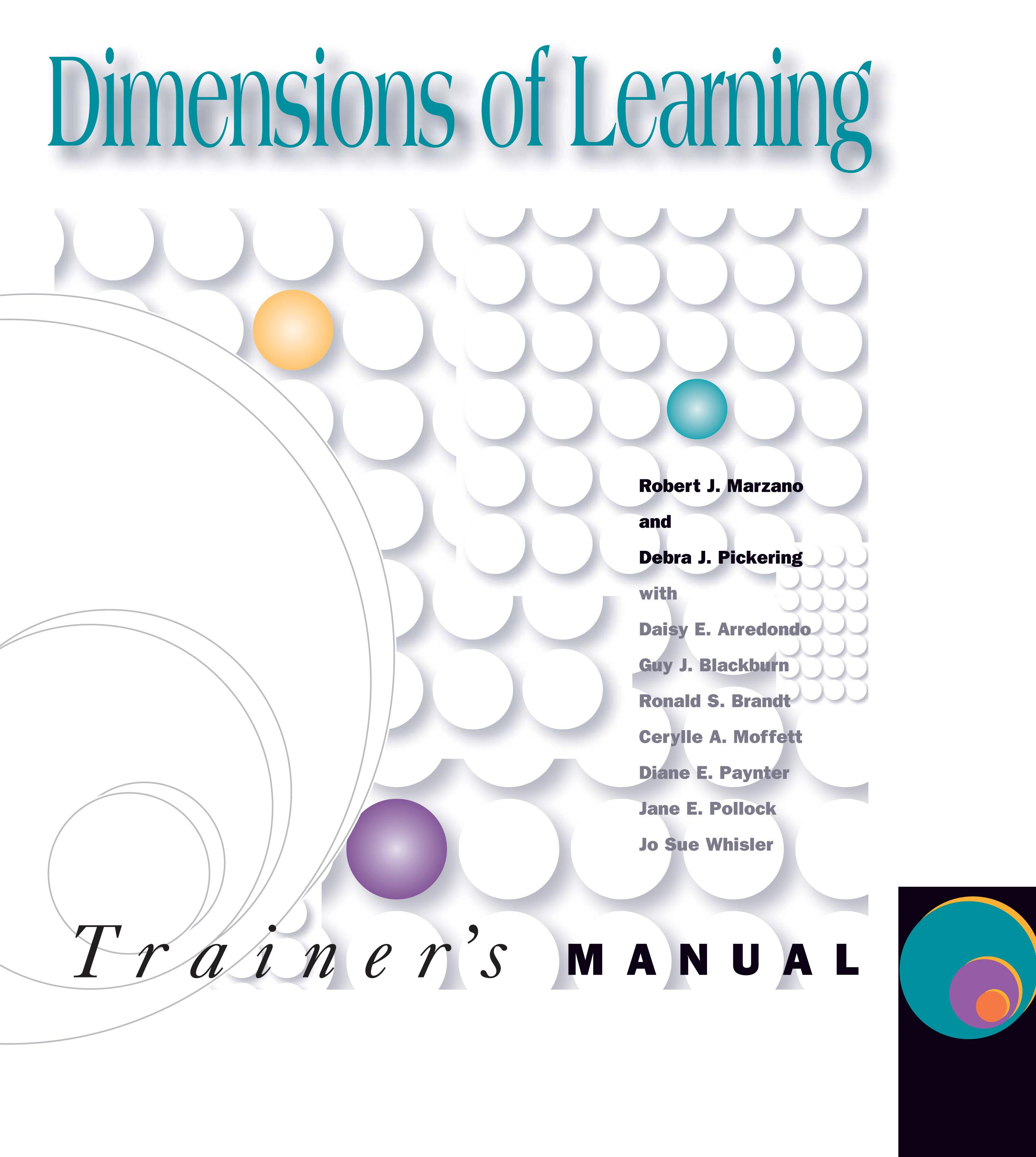Dimensions of Learning Trainer's Manual, 2nd ed.