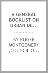 A general booklist on urban design