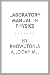 Laboratory Manual In Physics