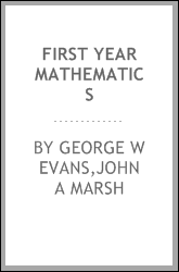 First year mathematics