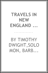 Travels in New England and New York