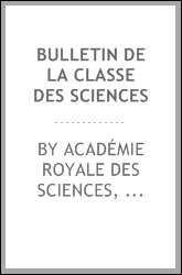 download bulletin de la classe des sciences book