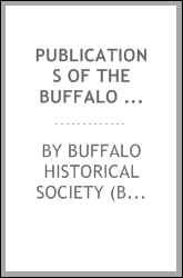 download publications of the <b>buffalo</b> historical society