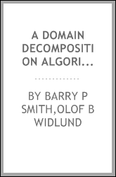 A domain decomposition algorithm based on a change to a hierarchical basis