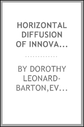 Horizontal diffusion of innovations : an alternative paradigm to the classical diffusion model