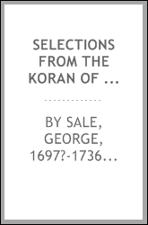 download Selections from the Koran of Mohammed book