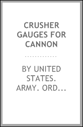 Crusher gauges for cannon
