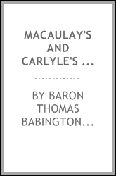 Macaulay's and Carlyle's Essays on Samuel Johnson