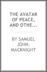 The avatar of peace, and other poems