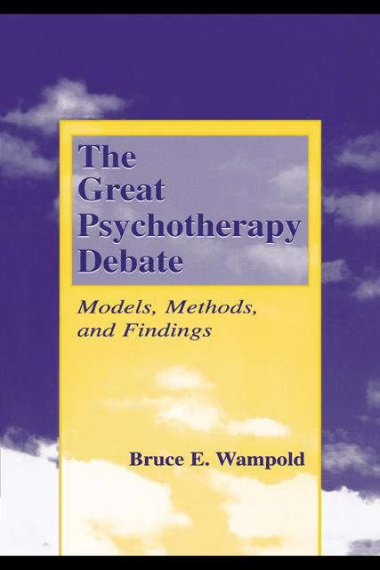 The Great Psychotherapy Debate: Models, Methods, and Findings