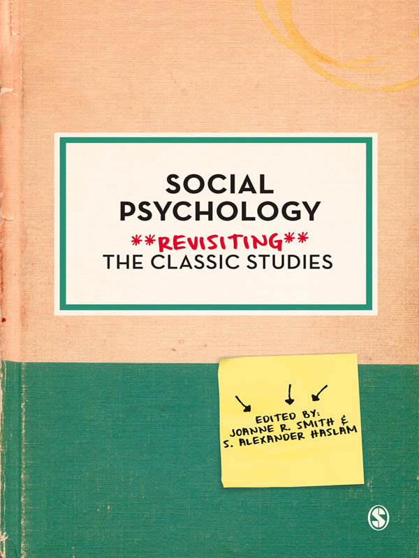 S Alexander Haslam  Dr. Joanne R. Smith - Social Psychology