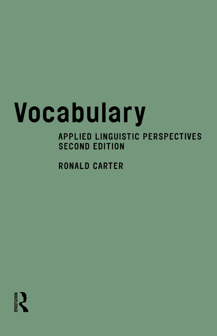 Vocabulary By: Ronald Carter