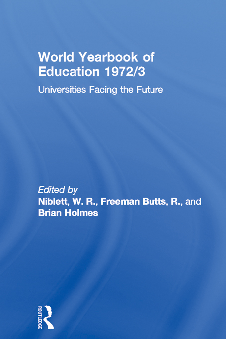 World Yearbook of Education 1972/3 By: