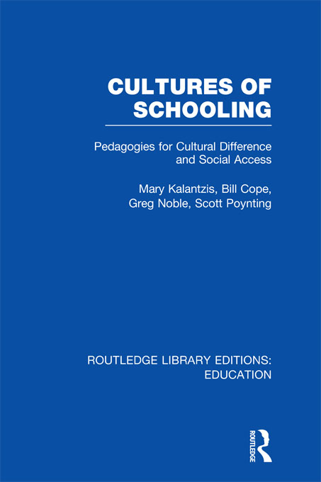 Cultures of Schooling (RLE Edu L Sociology of Education)