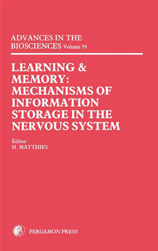 Learning and Memory Mechanisms of Information Storage in the Nervous System