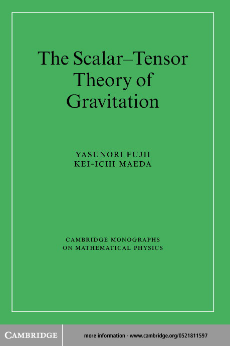 The Scalar-Tensor Theory of Gravitation