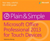 Microsoft Office Professional 2013 For Touch Devices Plain & Simple: