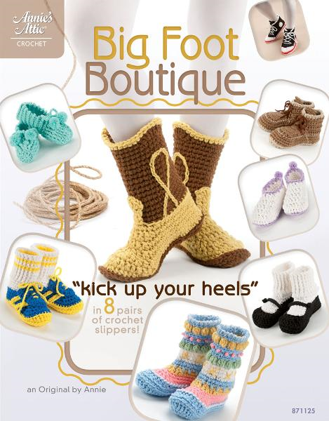 "Big Foot Boutique: ""Kick Up Your Heels"" in 8 Pairs of Crochet Slippers! By: DRG Publishing"