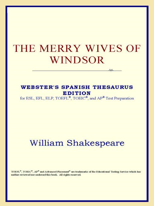 Icon Reference - The Merry Wives of Windsor (Webster's Spanish Thesaurus Edition)
