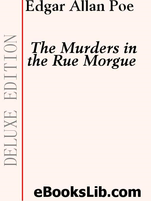Book Cover: Double assassinat dans la rue Morgue -The Murders in the Rue Morgue
