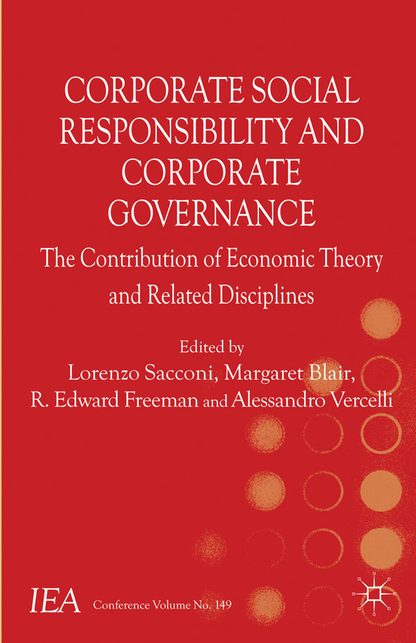 Corporate Social Responsibility and Corporate Governance The Contribution of Economic Theory and Related Disciplines