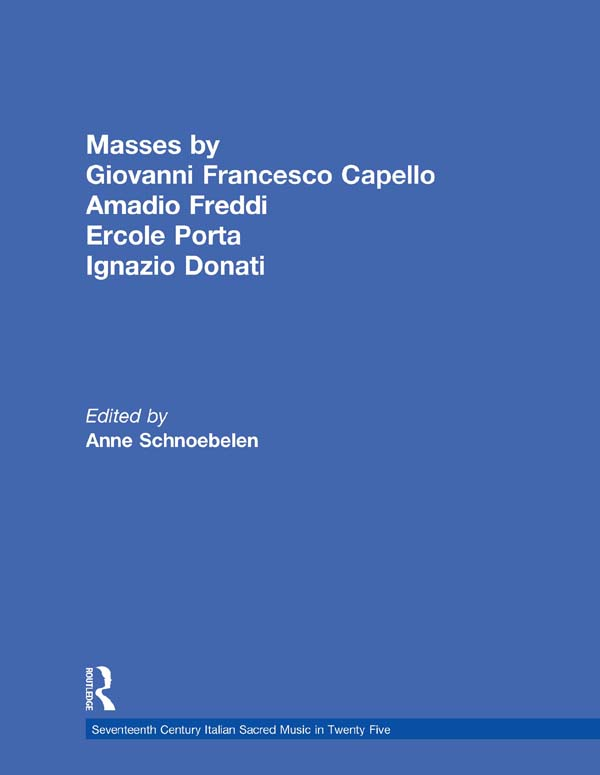 Masses by Giovanni Francesco Capello,  Bentivoglio Lev,  and Ercole Porta