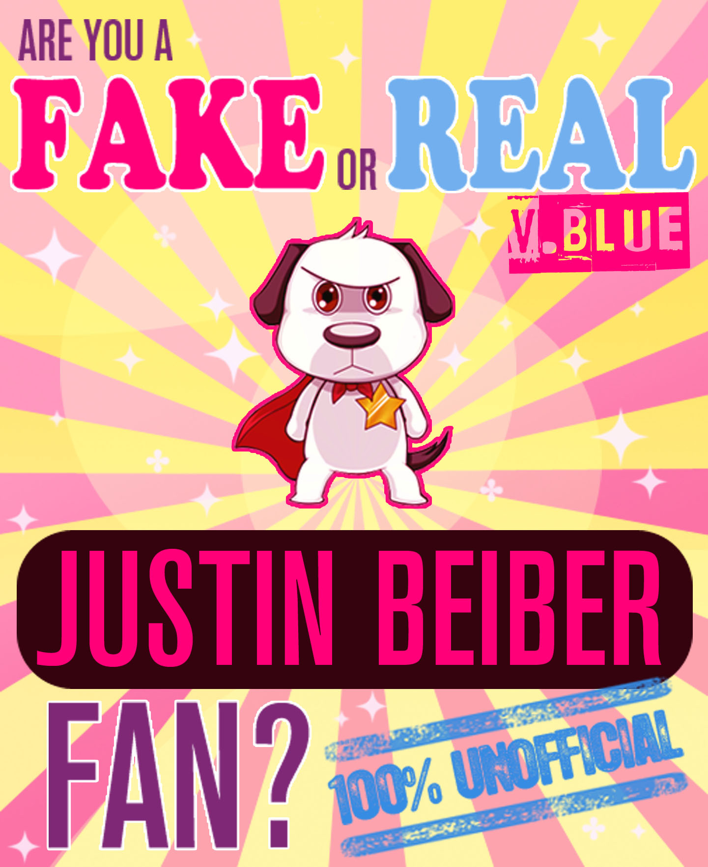 Are You a Fake or Real Justin Bieber Fan? Version Blue: The 100% Unofficial Quiz and Facts Trivia Travel Set Game