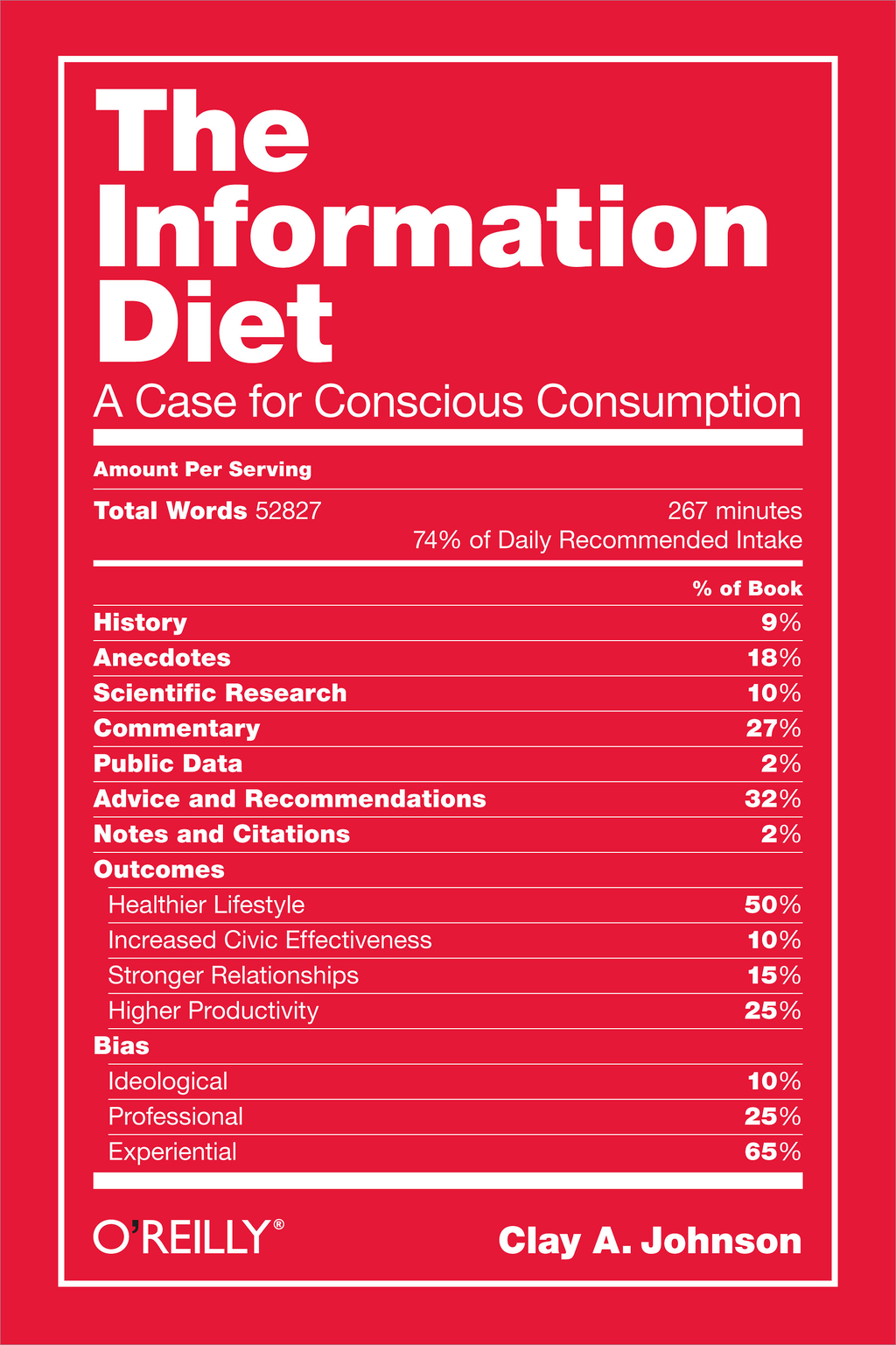 The Information Diet By: Clay A. Johnson