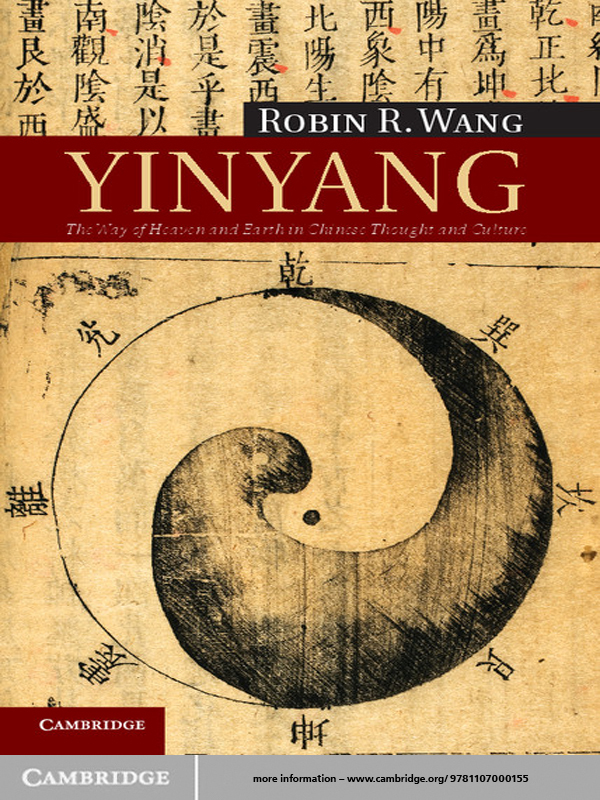 Yinyang The Way of Heaven and Earth in Chinese Thought and Culture