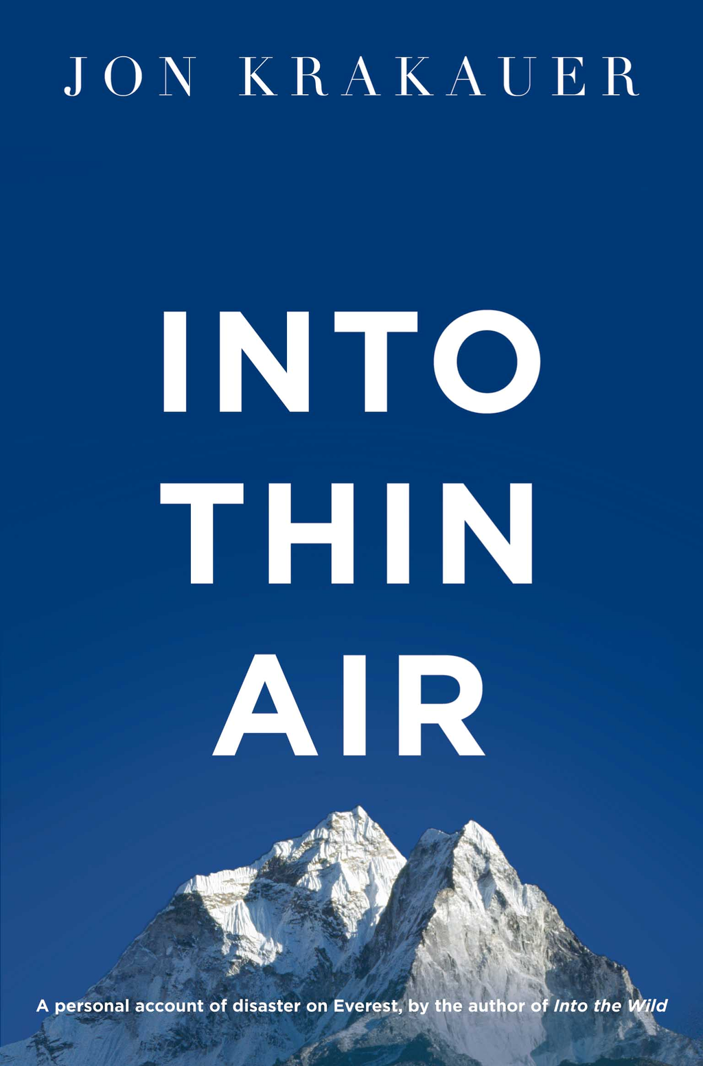 Into Thin Air A personal account of the Everest disaster