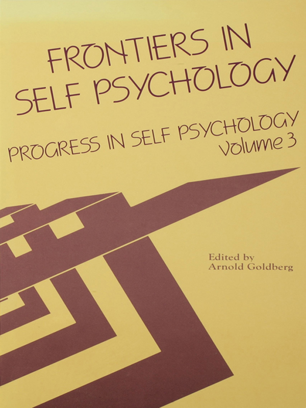 Progress in Self Psychology, V. 3