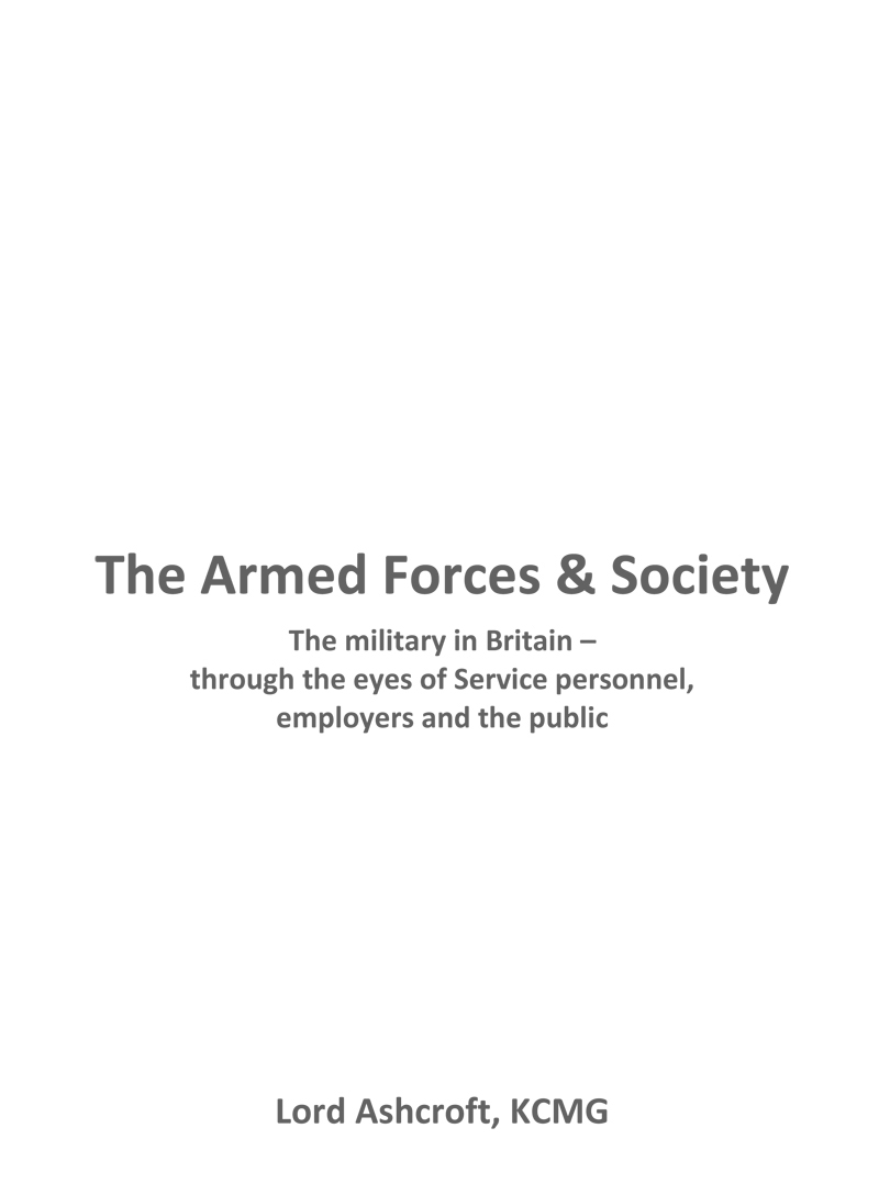 The Armed Forces and Society