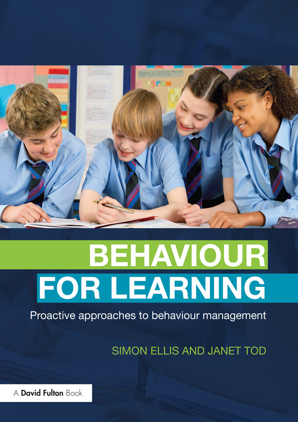 Behaviour for Learning Proactive Approaches to Behaviour Management
