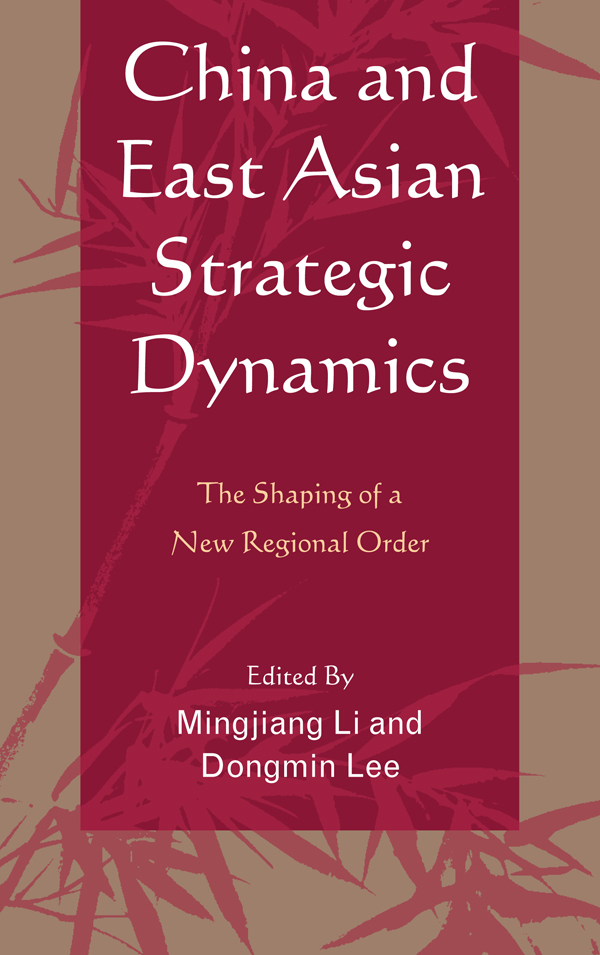 China and East Asian Strategic Dynamics