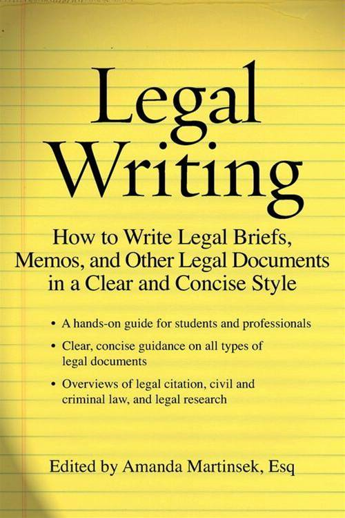 Legal Writing By: