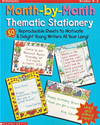 Month-By-Month Thematic Stationery: 50 Reproducible Sheets To Delight & Motivate Young Writers