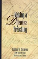 download Making a Difference in Preaching: Haddon Robinson on Biblical Preaching book