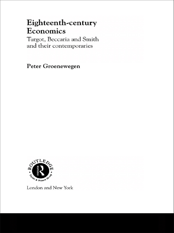 Eighteenth Century Economics