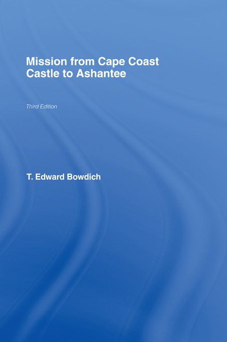 Mission from Cape Coast Castle to Ashantee (1819)