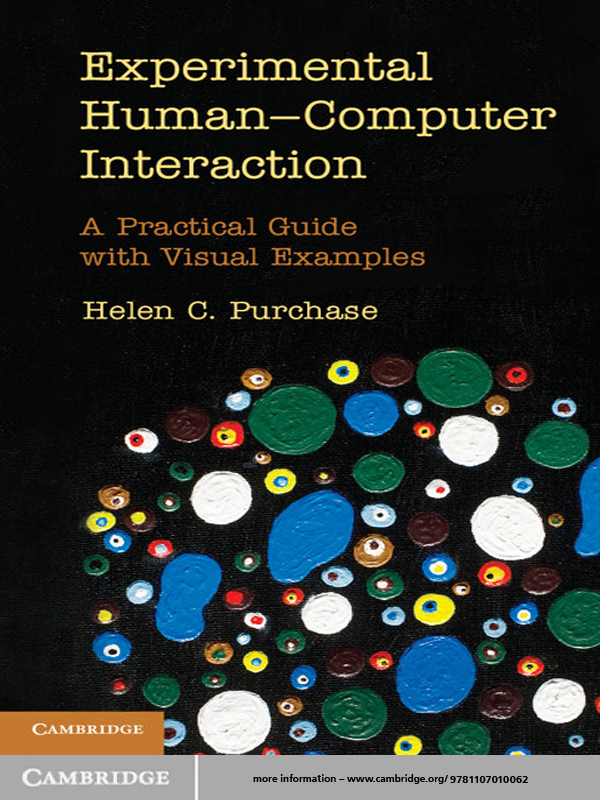 Experimental Human-Computer Interaction A Practical Guide with Visual Examples