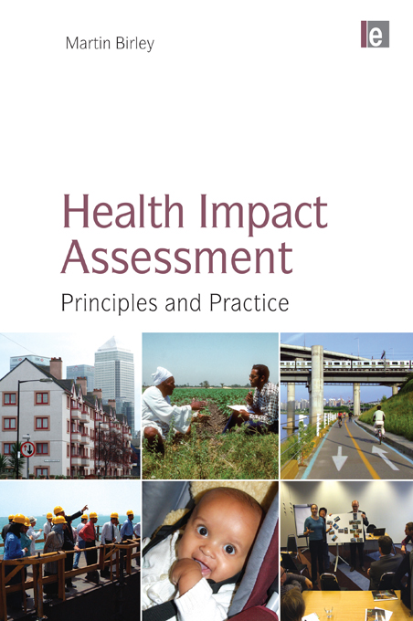 Health Impact Assessment Principles and Practice