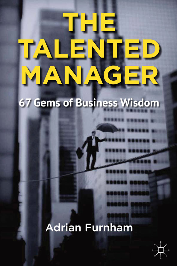The Talented Manager 67 Gems of Business Wisdom