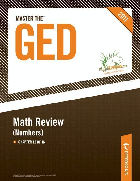 Master the GED: Math Review--Numbers: Chapter 12 of 16 By: Peterson's