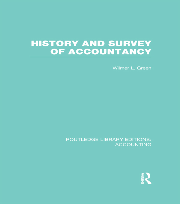 History and Survey of Accountancy