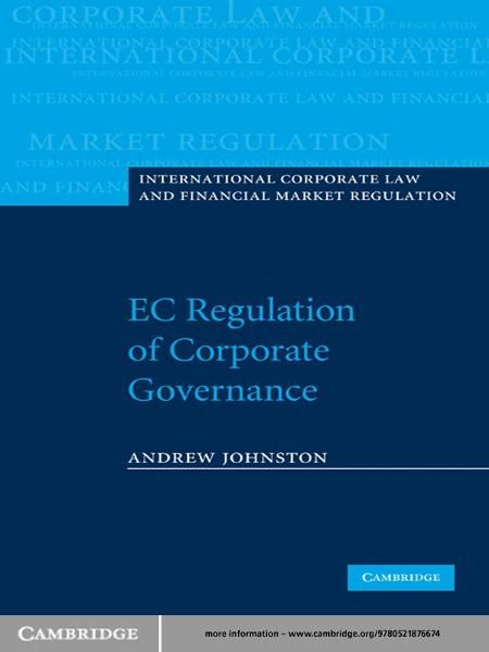 EC Regulation of Corporate Governance By: Andrew Johnston