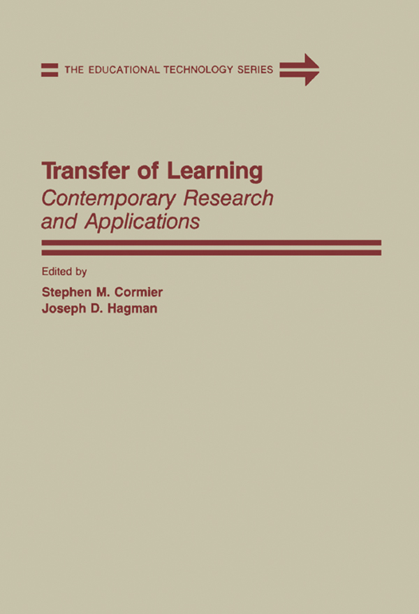 Transfer of Learning Contemporary Research and Applications