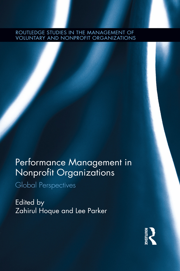 Performance Management in Nonprofit Organizations Global Perspectives